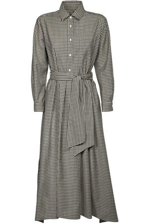 Max Mara Checked Wool Gabardine Shirt Dress