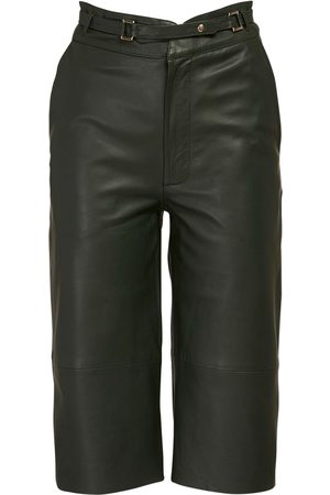 REMAIN Bocca Leather Bermuda Shorts W/ Belt