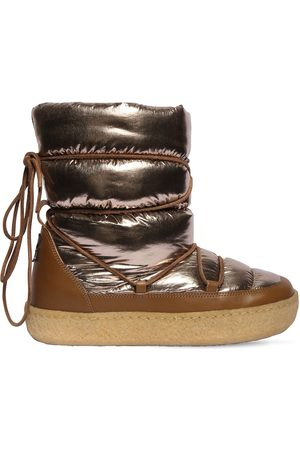 Isabel Marant 20mm Zimlee Nylon & Leather Snow Boots
