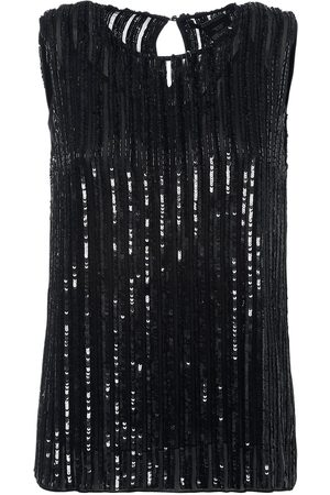 Max Mara Embellished Georgette Top