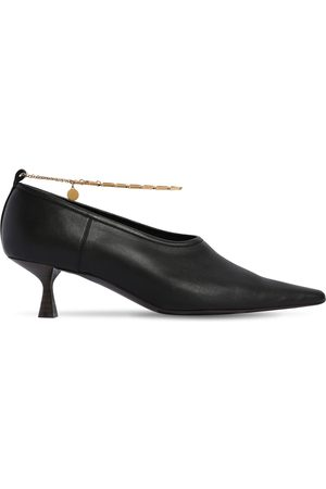 Stella McCartney 50mm Mid Heel Faux Leather Pumps