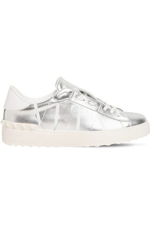VALENTINO GARAVANI Women Sneakers - 20mm Open Vltn Metallic Leather Sneakers