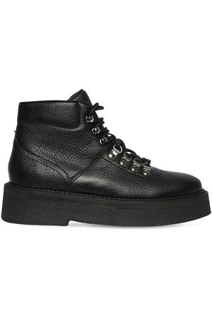 By Far 45mm Leo Grained Leather Ankle Boots