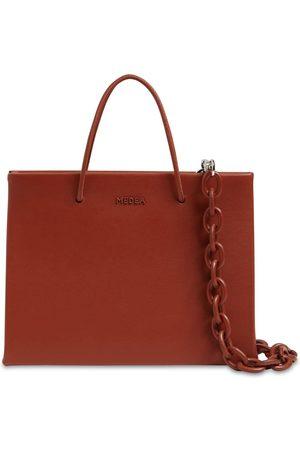 Medea Hanna Leather Top Handle Bag W/chain