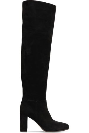 Gianvito Rossi Women Thigh High Boots - 85mm Suede Over-the-knee Boots