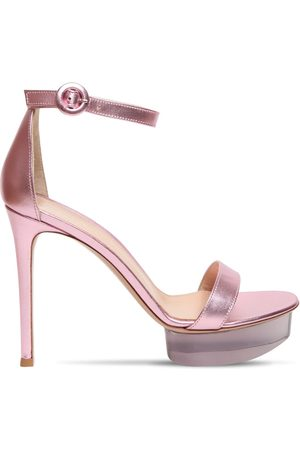 Gianvito Rossi 85mm Metallic Leather Sandals