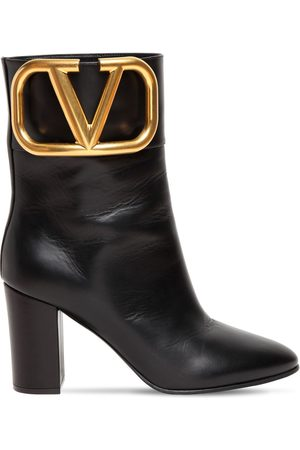 VALENTINO GARAVANI Women Ankle Boots - 85mm Super V Leather Ankle Boots