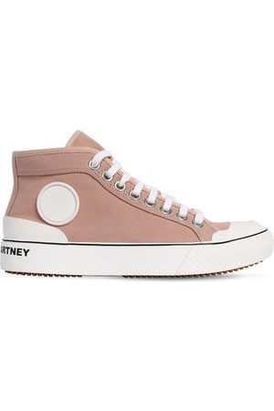 Stella McCartney Women Sneakers - 20mm High Top Cotton Canvas Sneakers