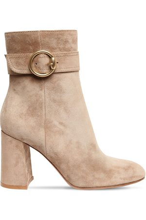 Gianvito Rossi Women Ankle Boots - 85mm Suede Ankle Boots