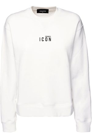 Dsquared2 Women Sweatshirts - Renny Fit Icon Printed Jersey Sweatshirt