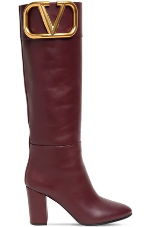 VALENTINO GARAVANI Women Thigh High Boots - 85mm Super V Leather Tall Boots