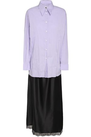 MM6 MAISON MARGIELA Convertible Poplin & Satin Long Dress