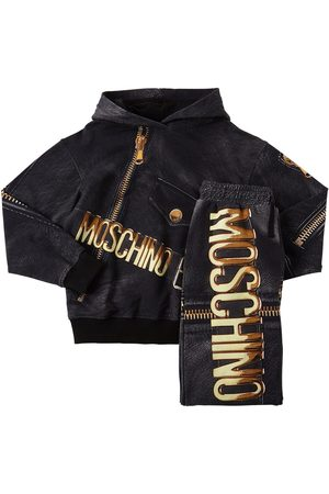 Moschino Printed Cotton Hoodie & Sweatpants