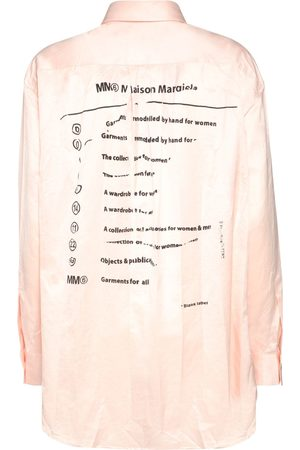 MM6 MAISON MARGIELA Printed Cotton Satin Shirt