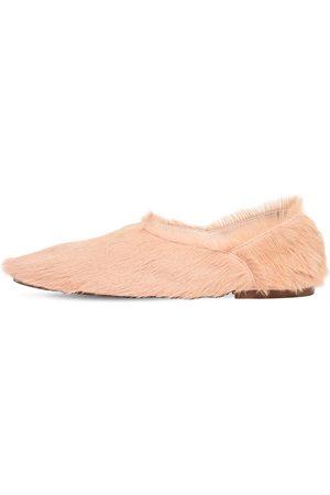 Jil Sander 10mm Pony Skin Ballerina Flats