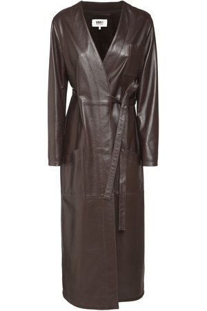 MM6 MAISON MARGIELA Wrap Leather Coat