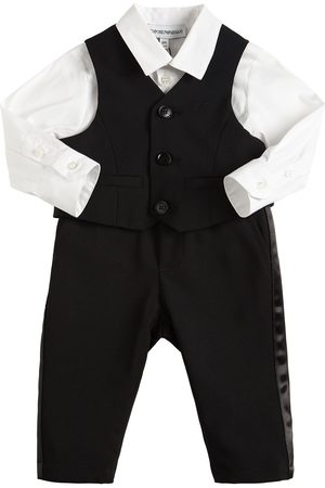 Emporio Armani Virgin Wool Blend Vest, Pants & Shirt