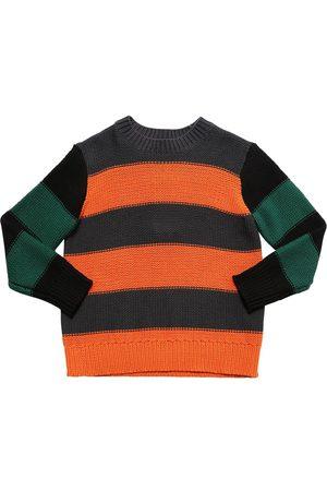 Stella McCartney Stripes Cotton Blend Knit Sweater