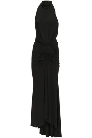 ALEXANDRE VAUTHIER High Neck Stretch Jersey Long Dress