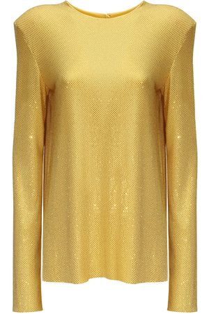 ALEXANDRE VAUTHIER Women Backless Tops - Crystal Embellished Top W/ Open Back