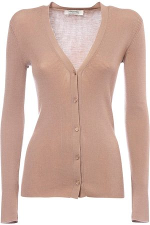 Max Mara Light Wool Rib Knit Cardigan