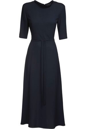 Max Mara Viscose Sablé Midi Dress