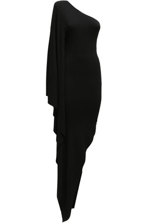 ALEXANDRE VAUTHIER Asymmetric Stretch Jersey Midi Dress