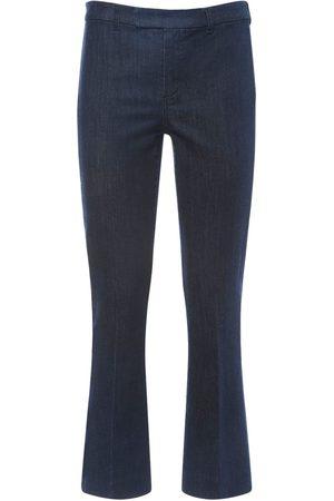 Max Mara Flared Cotton Blend Denim Pants