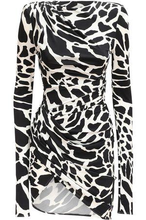 ALEXANDRE VAUTHIER Giraffe Print Stretch Jersey Mini Dress