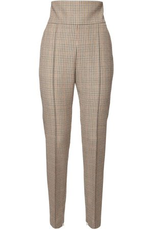 ALEXANDRE VAUTHIER High Waist Prince Of Wales Skinny Pants