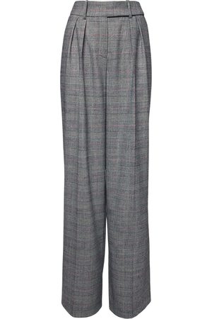 ALEXANDRE VAUTHIER High Waist Prince Of Wales Wide Pants