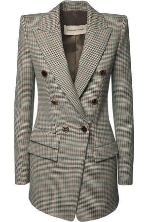 ALEXANDRE VAUTHIER Women Blazers - Wool Prince Of Wales Long Blazer