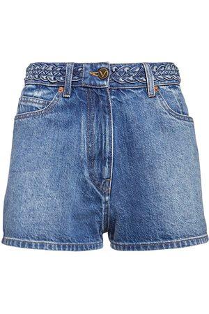 VALENTINO Signature Logo Cotton Shorts