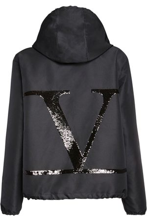 VALENTINO Go Logo Sequined Nylon Jacket