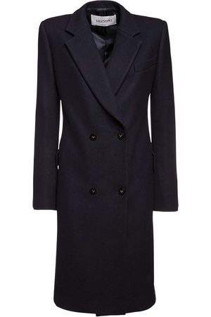 VALENTINO Wool Drill Double Breasted Coat