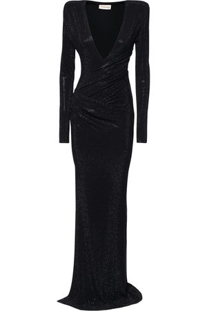 ALEXANDRE VAUTHIER Microcrystal Jersey Long Dress
