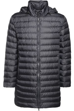 EA7 Long Nylon Down Coat