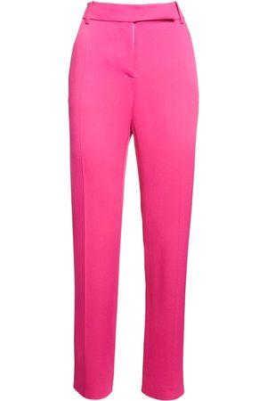 VALENTINO Stretch Cady Pants W/ V Pocket Flaps