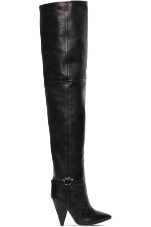Isabel Marant 105mm Lage Leather Over-the-knee Boots