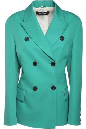 Rochas Wool Gabardine Double Breast Jacket