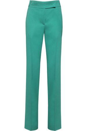 Rochas Wool Gabardine Straight Pants