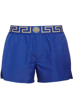VERSACE Logo Waistband Nylon Swim Shorts