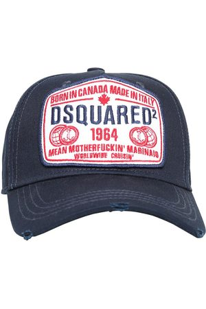 Dsquared2 Logo Patch Cotton Canvas Baseball Hat