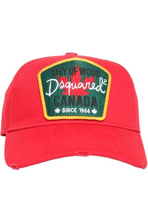 Dsquared2 Maple Leaf Patch Canvas Baseball Hat