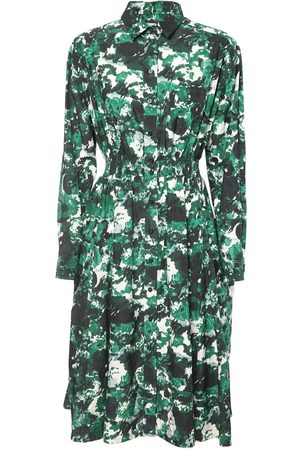 Kenzo Printed Cotton & Silk Poplin Dress