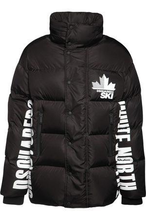 Dsquared2 Puffer Ski Jacket W/logo Print