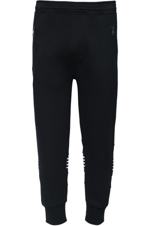 Neil Barrett Bonded Track Pants W/ Knit Stripes