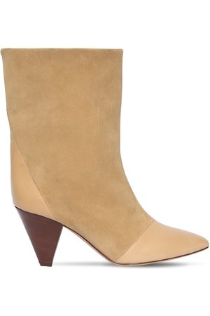 Isabel Marant 75mm Lillis Suede & Leather Ankle Boots