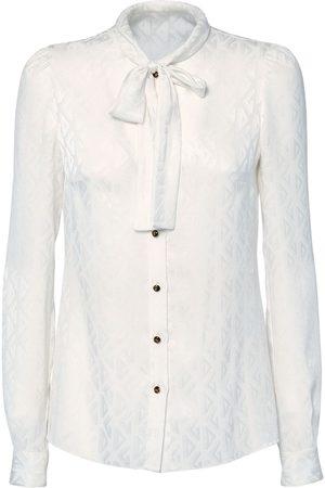 Dolce & Gabbana Logo Jacquard Silk Shirt