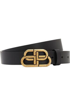 Balenciaga Women Belts - 30mm Bb Leather Belt